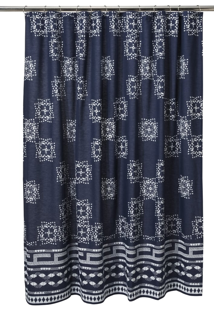Batik Shower Curtain In Indigo 25