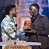 Chadwick Boseman Gives Award to James Shaw Jr. at MTV Awards