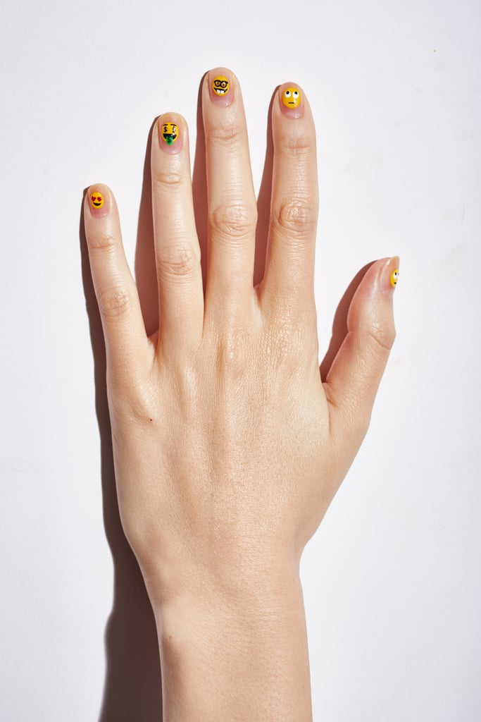 The Finished Look | Emoji Nail Art How To | POPSUGAR Beauty ...