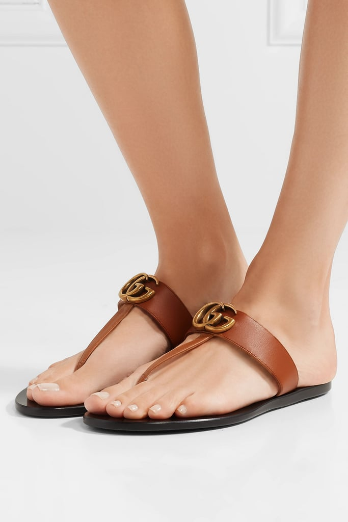 4b4538b8218 Gucci Marmont Leather Sandals