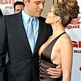 Ben Affleck shared the spotlight with Jennifer Lopez at their July 2003 LA premiere of Gigli.