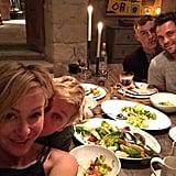 Portia de Rossi took a selfie with Ellen DeGeneres at their Thanksgiving celebration.