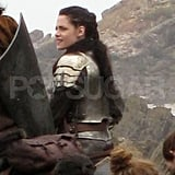 Kristen Stewart rides a horse for Snow White and the Huntsman.
