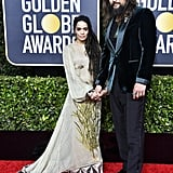 Jason Momoa Wearing a Tank Top at the Golden Globes 2020