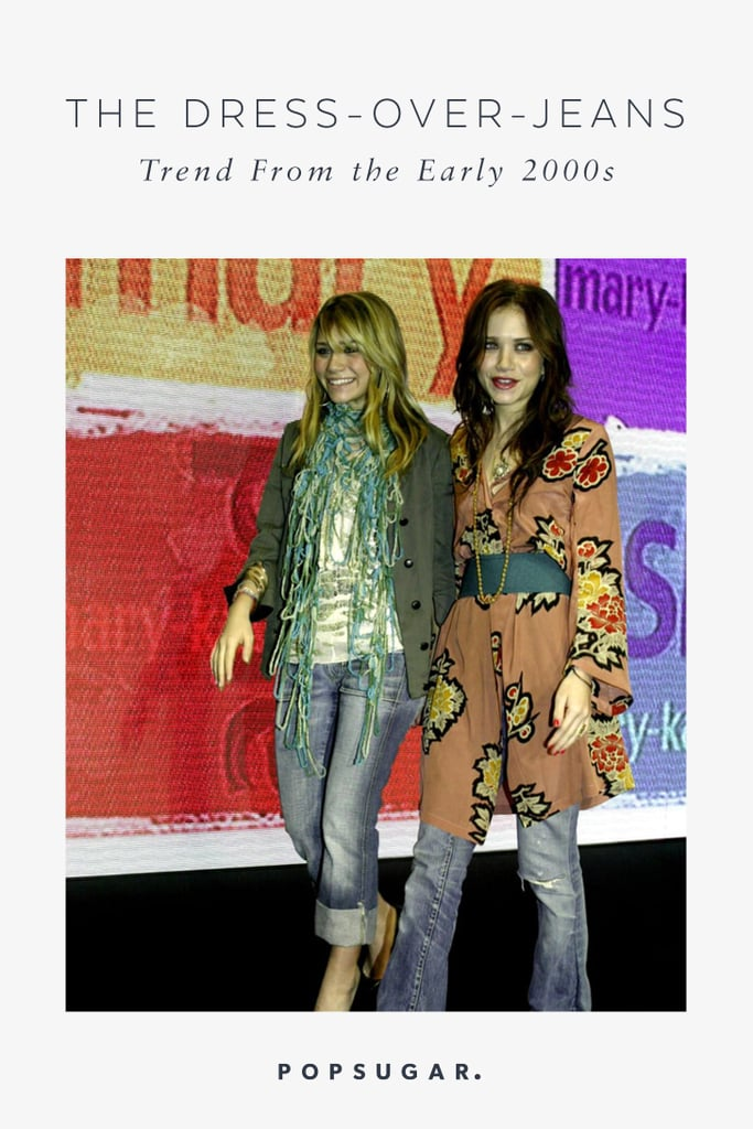 Dress Over Jeans Trend From the 2000s