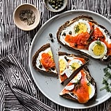 Smoked Salmon With Hard-Boiled-Egg Toast