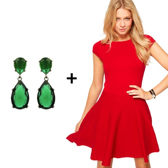 How to Wear Chic Red and Green Combos