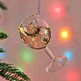 Wine Glass Christmas Ornament