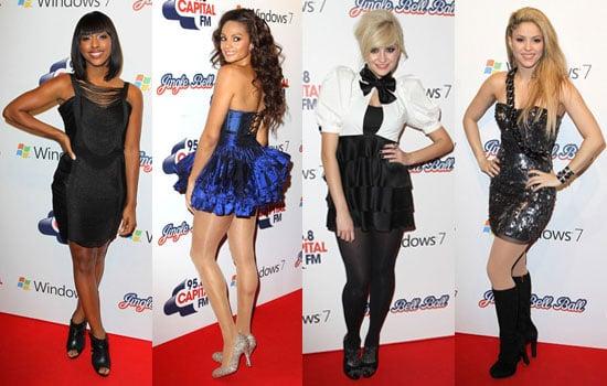 Photos of Sugababes, JLS, Westlife, Saturdays, Alesha Dixon, Alexandra Burke, Pixie Lott, Shakira Jingle Bell Ball London 2009
