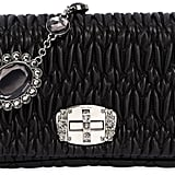 Miu Miu Crystal & Quilted Leather Clutch