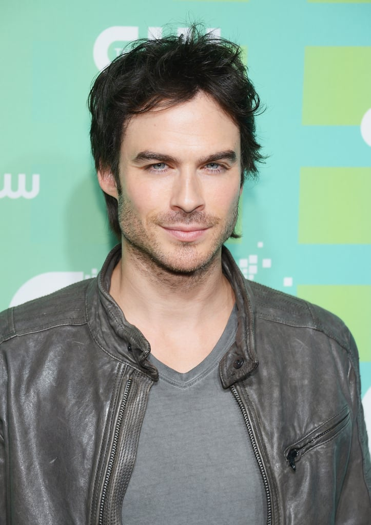Ian Somerhalder flashed his blue eyes at the cameras.