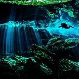 Scuba dive through Cancún, Mexico's, underwater museum.