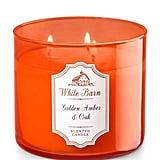 Golden Amber & Oak Candle ($25)