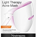 I was really skeptical of this goofy-looking Neutrogena Light Therapy Acne Mask ($30) until I started seeing results. Out of everything I use, I feel like the light therapy has made the biggest impact on my acne. It has red lights that target bacteria and blue lights to reduce inflammation. Yes, you will look like Daft Punk momentarily, but I can promise you, it's worth the 10 minutes a night.