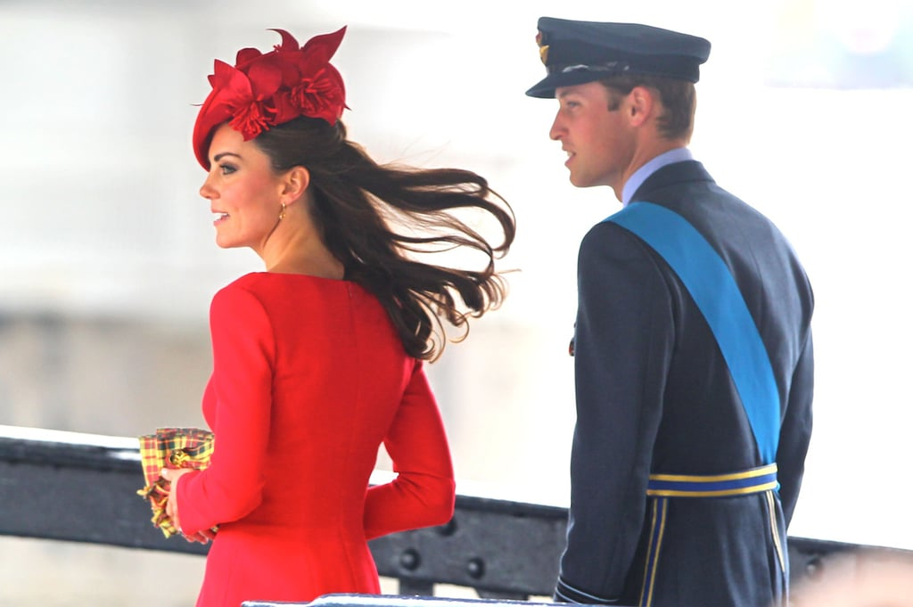 Prince William looked dashing in his military uniform with wife Kate by his side at the Thames Diamond Jubilee Pageant.
