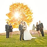 Outdoor Sunset Wedding