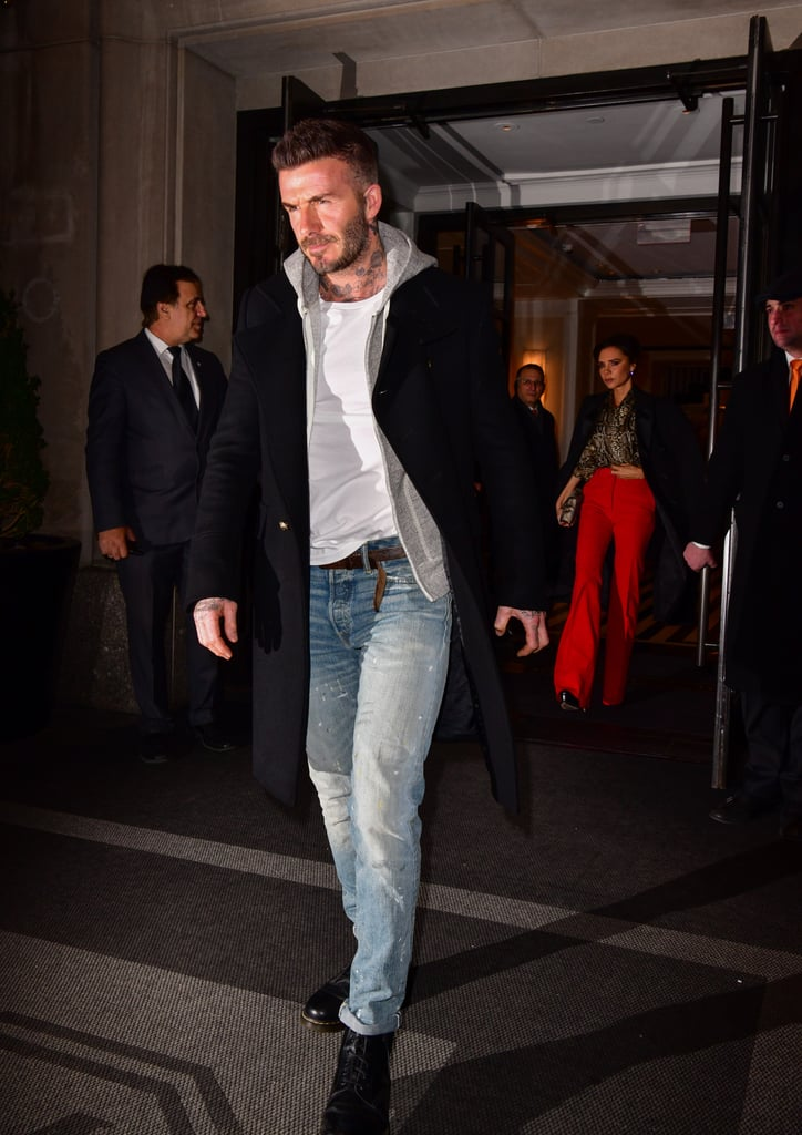 David Wore Jeans, Dr. Martens, a White