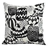 E by Design Witches Brew Pumpkins Galore Square Throw Pillow in Cream