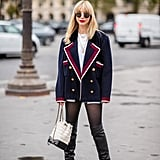 With Knee Boots and a Blazer