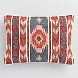 Woven Arrow Striped Indoor Outdoor Lumbar Pillow