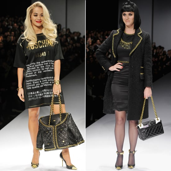 Katy Perry And Rita Ora Model Moschino On Runway In Milan