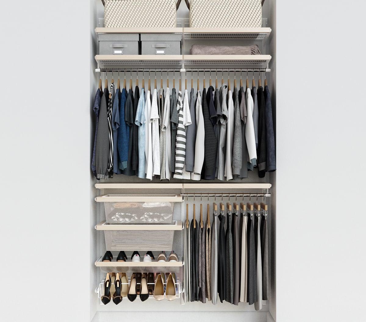 Birch White Elfa Decor 4 Closet 11 Closet Organization