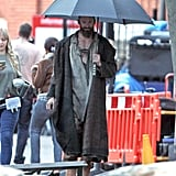 Hugh Jackman as Jean Valjean on the set of Les Misérables.