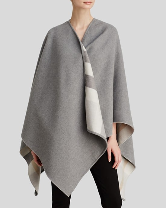 Burberry London checked merino wool cape ($895)