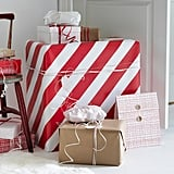Vinter 2019 Red and White Striped Gift Wrap Roll