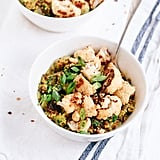Curried Coconut Quinoa With Roasted Cauliflower and Greens