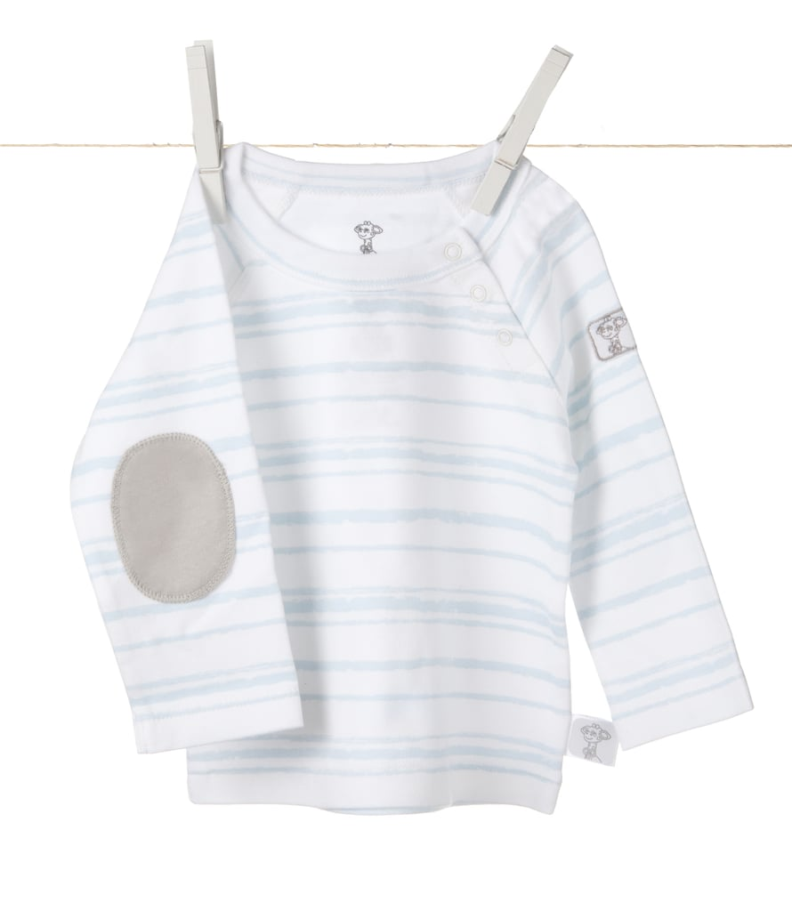 """For the littlest of little ones, this striped shirt ($26) with elbow patch appliques screams """"comfy cool."""""""