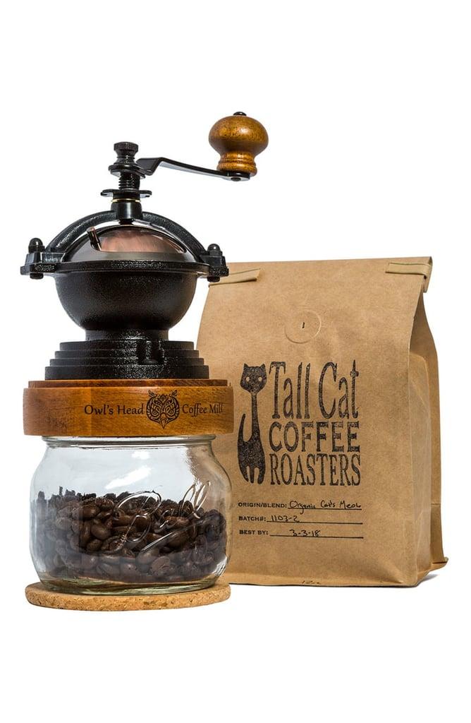JK Adams Owl's Head Manual Coffee Grinder