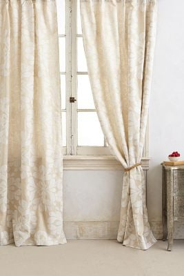 floral drapes