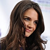 Katie Holmes smiled for the cameras.