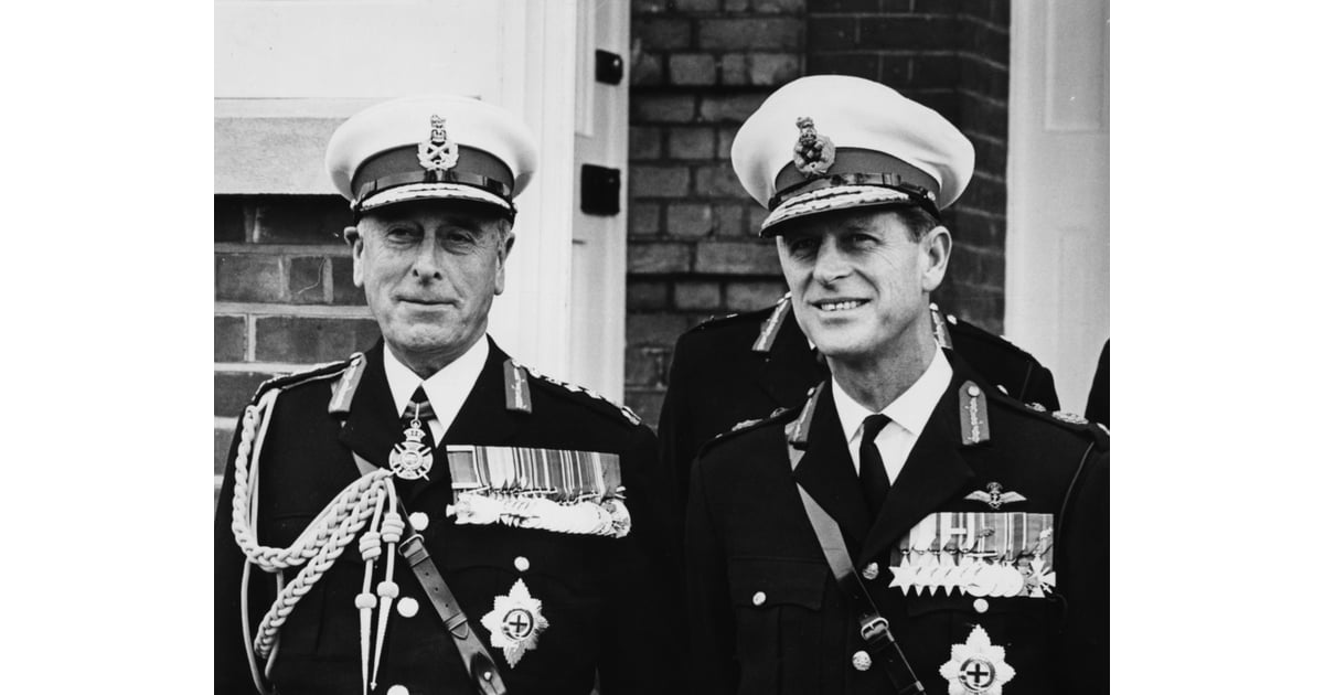 With His Uncle, Earl Mountbatten In 1965