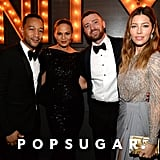 Pictured: Justin Timberlake, Jessica Biel, John Legend, and chrissy Teigen
