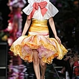 She Wore a Voluminous Blouse and Skirt as Her Second Moschino Look