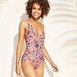 V-Neckline One-Piece Swimsuit