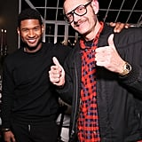 Terry Richardson hammed it up with Usher.