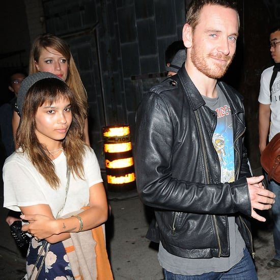 Michael Fassbender and Zoe Kravitz Pictures in Toronto