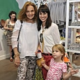 Diane von Furstenberg, Constance Zimmer, and Colette Lamoureux, 4, posed at the Gap Kids event.