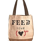 Lauren Bush Lauren's FEED campaign has donated over $6 million and 60 million meals since its launch in 2005. The purchase of a suede and burlap (FEED)RED Love 30 Bag ($80) will provide approximately 30 days of ARV treatment for AIDS patients, as well as 30 nutritious meals through the World Food Programme.