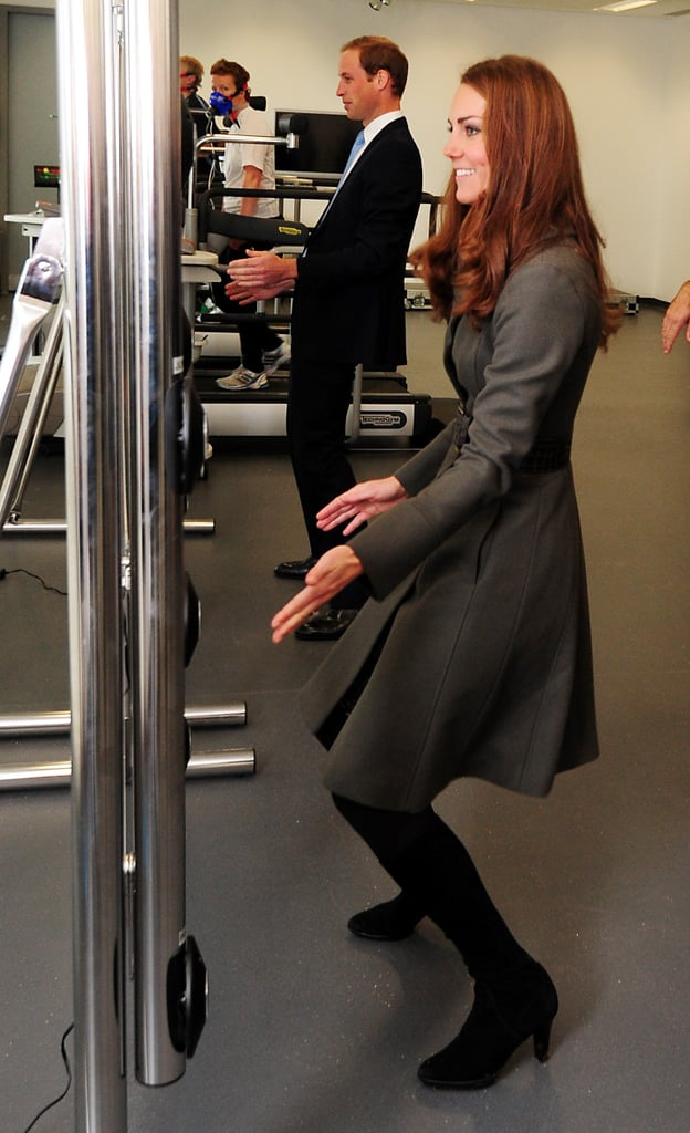 In October 2012, Kate Middleton and Prince William tested their fitness abilities during a visit to The Football Association's National Football Centre at St George's Park in Burton-upon-Trent.