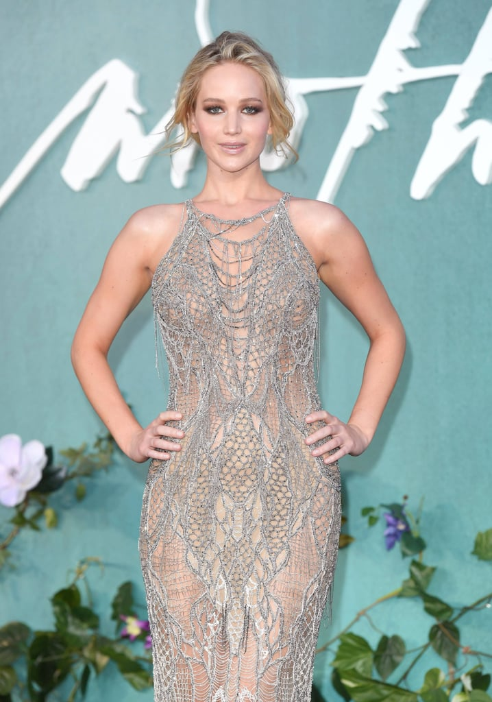 Jennifer Lawrence Mother Premiere Versace Dress