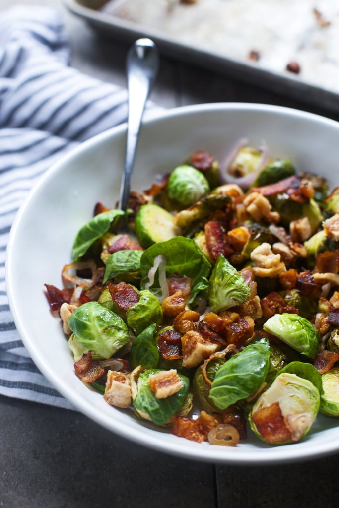 Bacon and Brown Sugar Roasted Brussels Sprouts