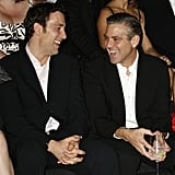 "George Clooney's secret was actually outed by Julia Roberts. Clive Owen was featured in the March 2009 issue of Esquire. The article mentions that Julia spoke candidly about the relationship between George and Clive: ""George Clooney is obsessed with Clive . . . because he's English, because his successes have stood on the shoulders of his talents alone, because he hasn't just been carried away by popular culture."" Clive mentioned in an interview that he reciprocates:  ""Well, I've got a bit of a crush on George Clooney . . . I think he's great."""