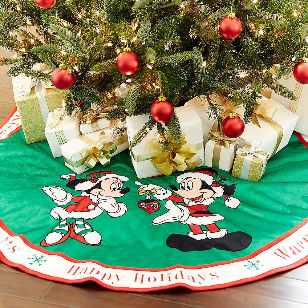 disney santa mouse tree skirt - Disney Christmas Decorations