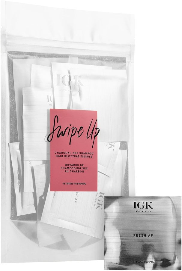 IGK Swipe Up Charcoal Dry Shampoo Hair Blotting Tissues