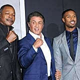 In 2015, Michael and his Creed costars struck a series of fun poses on the red carpet in LA.