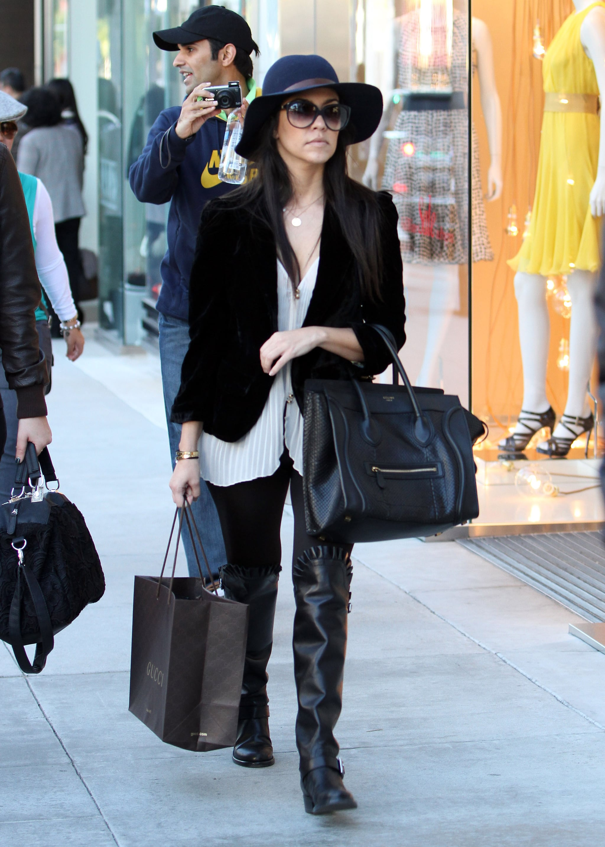 Celebrities Carrying Celine Luggage Tote Pictures Popsugar Fashion